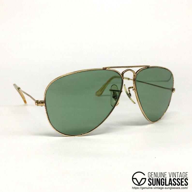 34e0fa1aac Ray Ban Chromax Gold 10K vintage sunglasses USA 80s Small