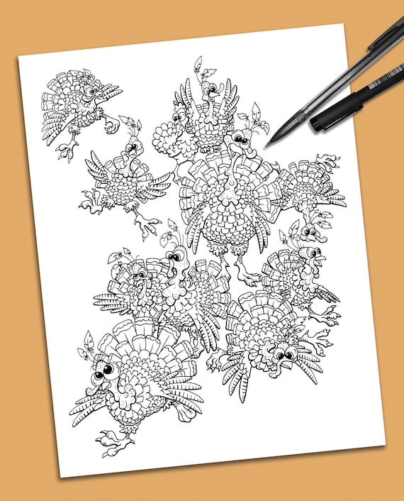 Turkey Trot Coloring Page