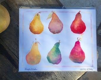The Salt Test Pears™ Fine Art Giclee LIMITED EDITION print