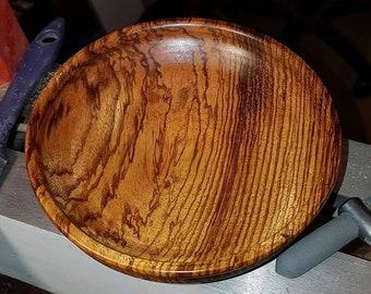 Zebrano wooden bowl
