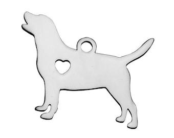 fc34ab6ac Labrador Retriever Charm, Labradoodle Charm, Golden Retrieve, Goldendoodle, Dog  Charm, Dog with Heart Charm, Large Dog Breed Charm