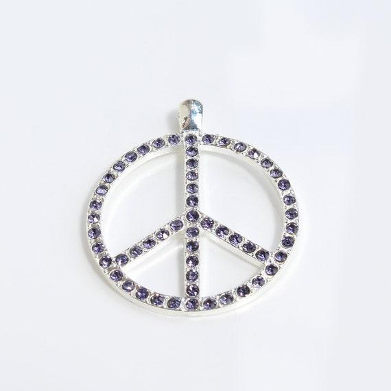 Peace Zeichen Friedenszeichen Schlüsselanhänger Anhänger Silber aus Metall