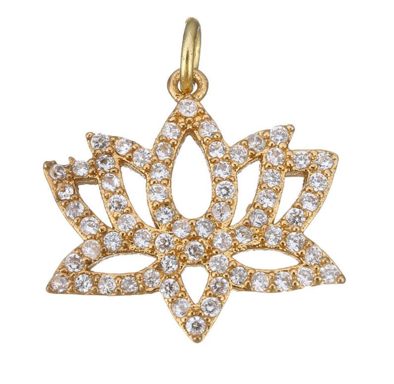 Lotus Flower Charm Pendant Lotus Flower Charm Yoga Pendant Etsy