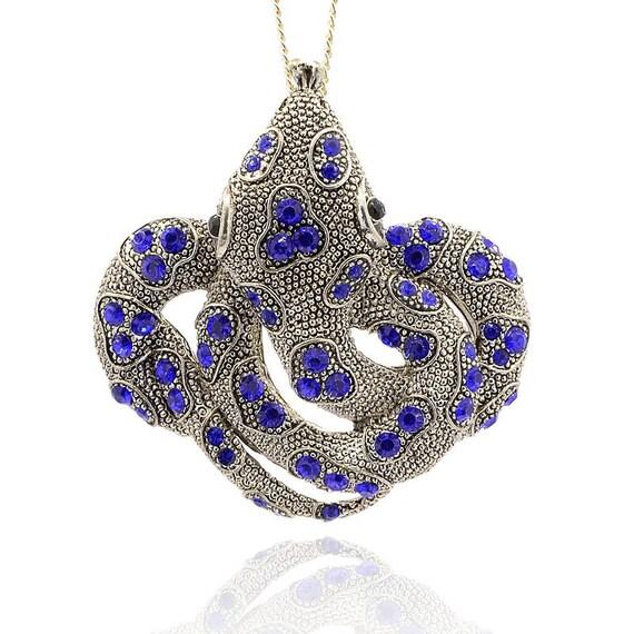 Xl snake pendant rhinestone snake pendants reptile charm etsy image 0 aloadofball Gallery