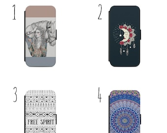 Gypsy Bohemian Boho Woman and horse for iPhone Apple and Samsung  X 8 7 6 Case iPhone Cover iPhone X iPhone 8 iPhone 7 iPhone 6s