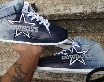 online store 632ff 9053b Custom Cowboys air force ones (mid)