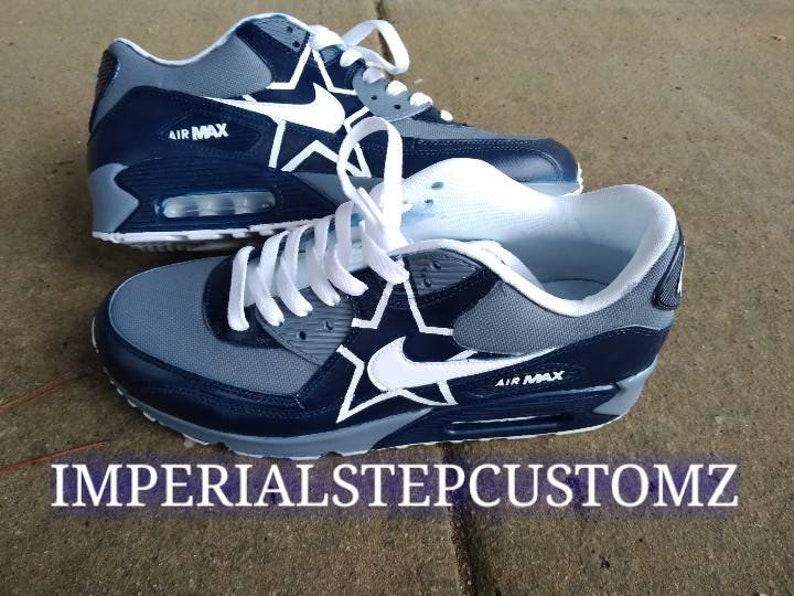 promo code a3b18 9f97f Air Max 90dark grey dark blue white   Etsy