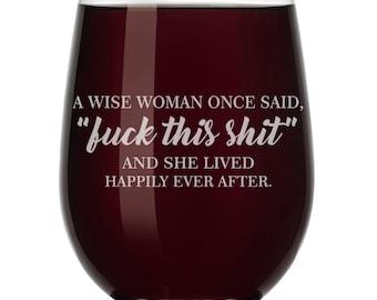 Funny Wine Glass Etsy