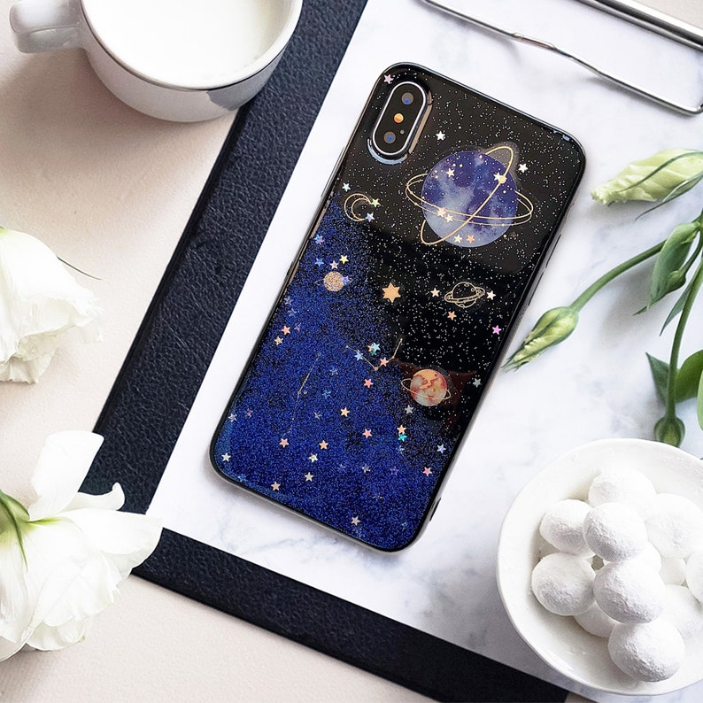 size 40 05acb 84ed3 Iphone XS Case, Iphone X Case, Stars IPhone 8 Case, Space iPhone 7 Case,  IPhone 8 Case, Planet Phonre Case, Phone Cover, Iphone 6 Case