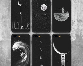 Space Iphone Case, Planet Iphone Case, Stars Iphone Case, Moon Iphone Case, Moon Iphone 7 Case, Astronaut, Iphone 7 Plus Case, Iphone 8 Plus