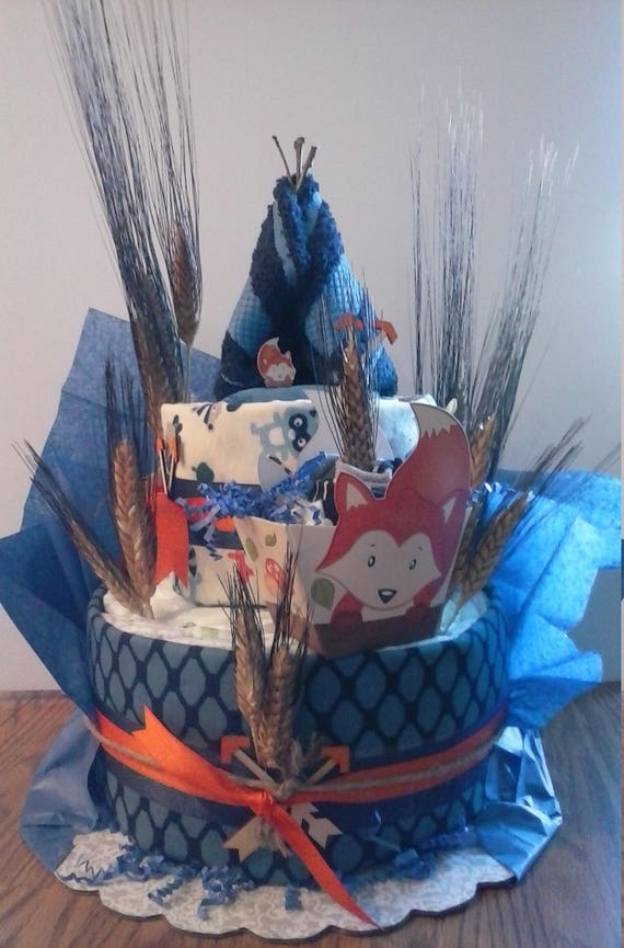 Pleasant Baby Diaper 2 Tier Special Order Cake Theme Jungle Fox Etsy Funny Birthday Cards Online Benoljebrpdamsfinfo