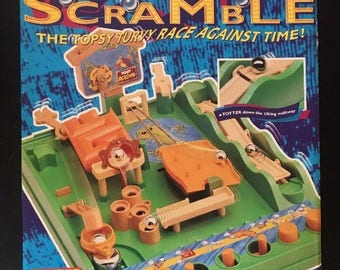 Vintage Screwball Scramble Tomy Active 7070 With 1 Ball Bearing Hoop And Timer Family Traditional Fun Board Game Christmas Kids