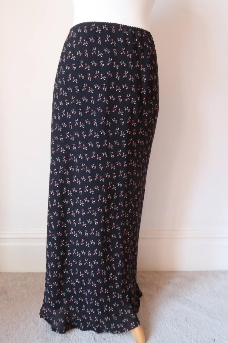 8b090d869a Grunge Skirt Size 14 Petite Vintage LAURA ASHLEY 90s Maxi   Etsy