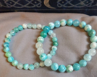 Fashion Design 4mm Beads Natural Amazonite Stone Women Fashion Bracelet Jewelry Free Shipping Bracing Up The Whole System And Strengthening It Jewelry & Accessories Bracelets & Bangles