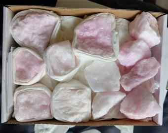 Pink Aragonite Raw Stone rough Crystal Healing Spiritual Support