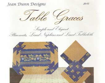 QUILT PATTERNS - Scrap-Bags Pattern  -  Table Linens - Place Mats, Napkins, Tablecloth- Quilt Pattern and Instructions