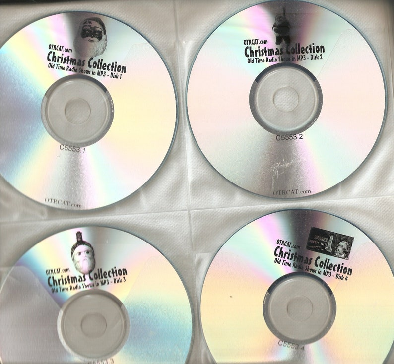VINTAGE Classic Radio Shows - 49 Discs - Free Shipping - Holiday Collection  - Comedy - Bing Crosby - Bob Hope and More