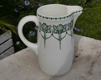 Large Antique French St Amand Water Jug / Pitcher from early 1900's.