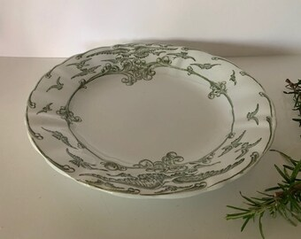 Vintage French St Amand Ironstone Shallow Serving Dish, Bowl. French Kitchen.