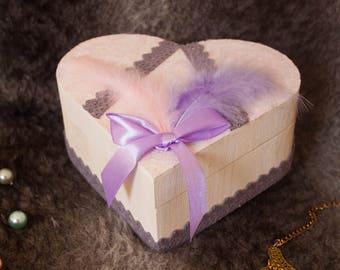 Marshmallow heart box