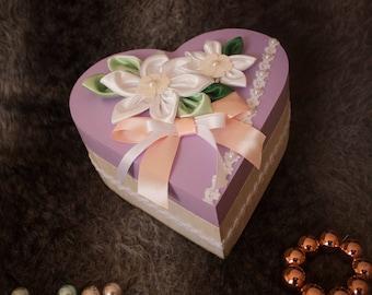Pastel heart box