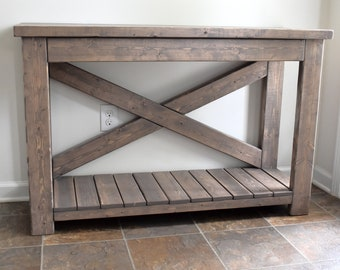 Attirant Handcrafted Wood Console Table