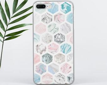Hexagon iPhone 6S Case iphone 7 Case iPhone 5 Case iPhone 7 Plus Case Samsung S6 Case Samsung S8 Plus Case Samsung S7 Edge Case Geometric 43