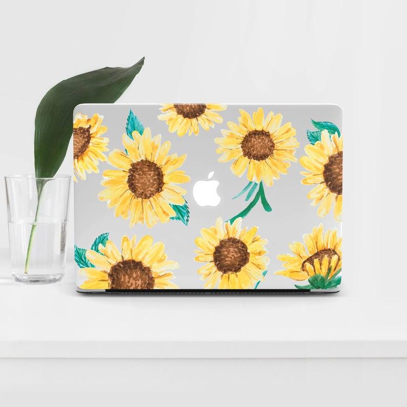 pretty nice 88e80 fb22e Sunflowers Macbook Pro 13 Case Laptop Air 13 Macbook Pro 15 Case Macbook  Pro 2017 Case For Macbook Laptop Pro 15 Case Macbook Air 12 11 56