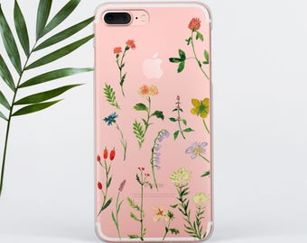 Field Flowers iPhone 7 Case iPhone 6 Case Florals iPhone SE Case Samsung S6 Case Galaxy S7 Case Samsung S8 Plus Case iPhone 8 Case PC28