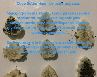 Organic lemongrass soap (4 in a pack)