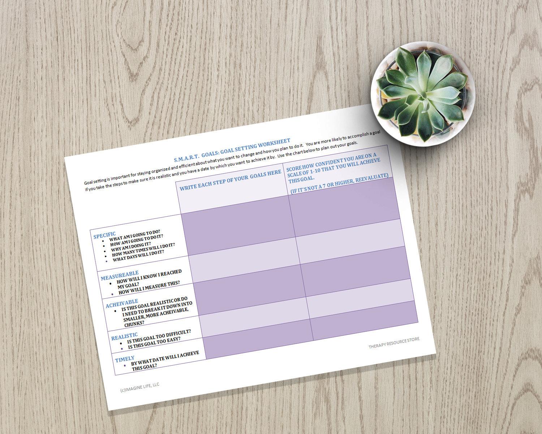 Zieleinstellung Druckbare Seite, SMART Ziele Arbeitsblatt, psychische  Gesundheit, Motivation, Selbsthilfe, Selbstversorgung
