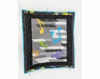 Punk Rocker Rainbow Baby Crib Quilt