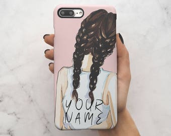 Personalised Custom Text Initials Every Blonde Needs A Brunette Best Friend Protective Hard Case Cover For iPhone 7 iPhone 8 & Samsung | C3