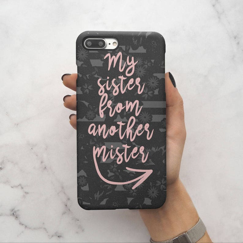 best sneakers 4a80c 6e9d9 Matching Best Friend Goal BFF Bestie My Sister From Another Mister Gift For  Bestfriend Protective Hard Case Cover For iPhone X / XS Max   C9