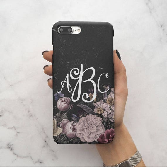 detailed look e2423 9b148 Personalised Wild Flowers Custom Floral Monogram Name Initials For Girls  Protective Hard Case Cover For iPhone X / XS Max & Samsung | C54