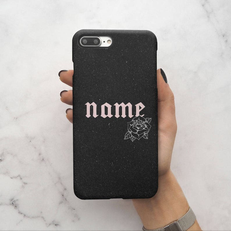 e147726ff5fbe Personalised Custom Name Create Your Own For Her Customized Case Pink  Pastel Rose Protective Hard Case Cover For iPhone X / XS Max | C118