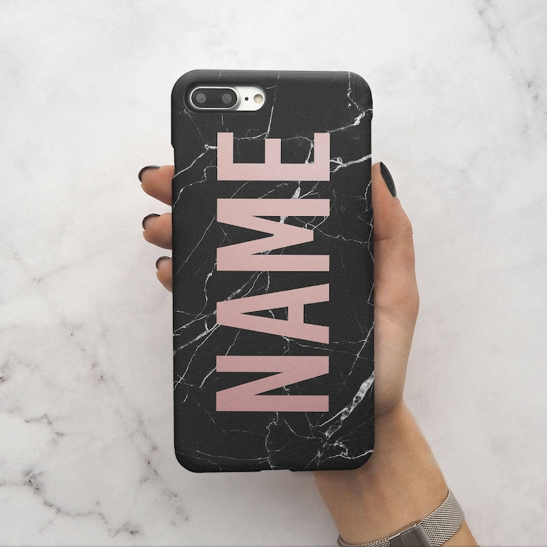 de40d3e1e2806 Personalised Custom Name Create Your Own Customized Case Black Marble  Protective Hard Case Cover For iPhone X iPhone XS Max & Samsung | C56
