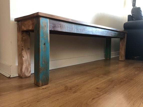 Awesome Vintage Dining Bench Solid Reclaimed Wood Furniture Rustic Industrial Style Chunky Handcrafted Antique Large Kitchen Hallway Entryway Retro Alphanode Cool Chair Designs And Ideas Alphanodeonline