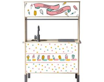 Set ' ice-cream multicolor ' for IKEA children's Kitchen