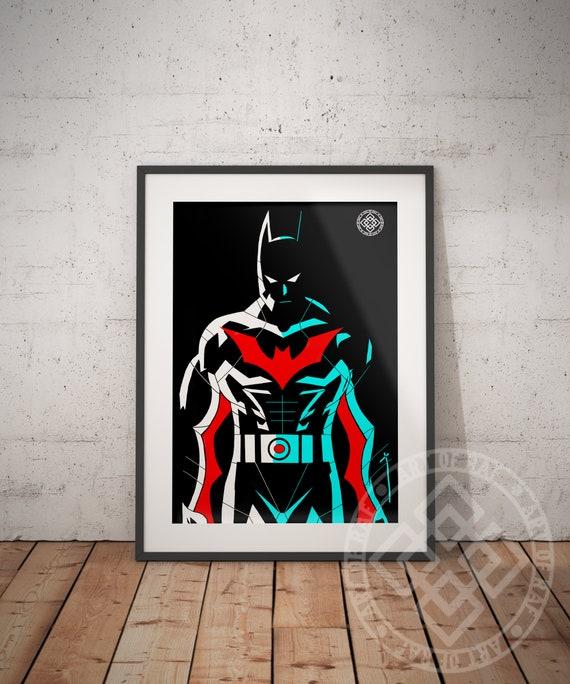 Batman jenseits Premium Poster! Dieses Poster ist perfekt für jeden Batman Fan, DC Comics Fan und Kunstsammler!