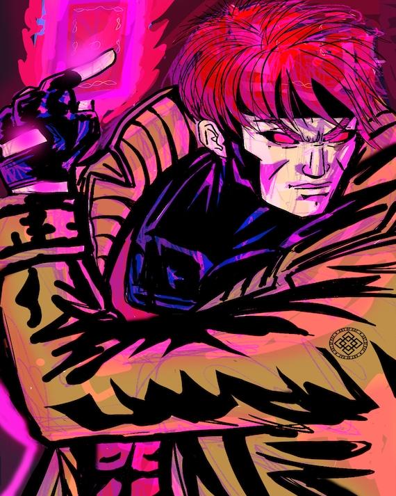 Gambit X-Men Poster This Premium Poster Is Perfect Gambit  Etsy