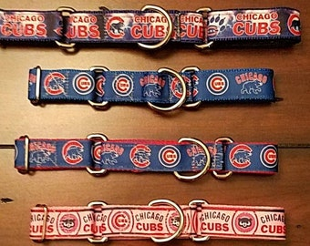 Chicago Cubs Dog Collars - Martingale Dog Collars - Various Styles to Choose From - Part of proceeds donated to Shar Per Savers rescue