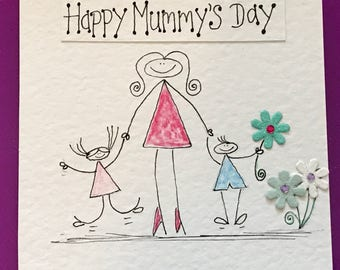 Hand drawn Mother's Day card