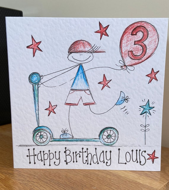 Personalised Scooter Birthday Card
