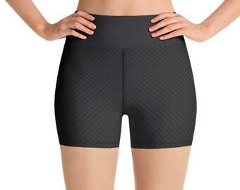 cadf69b088803 Women's teen Yoga shorts leggings Carbon Fiber exercise Lotus running  clothing gym dance workout pants jogging running Canvas Short Slee