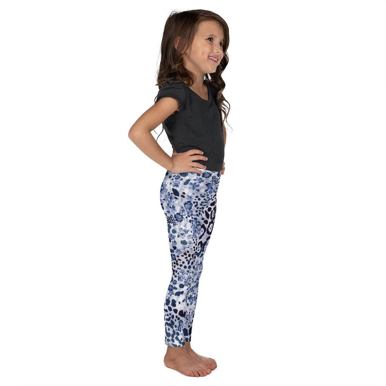 Kid/'s Toddlers Leggings Tights Blue Leopard Floral Navy Flowers Pants Leotard Activewear  and Pajamas Clothing Christmas Gift