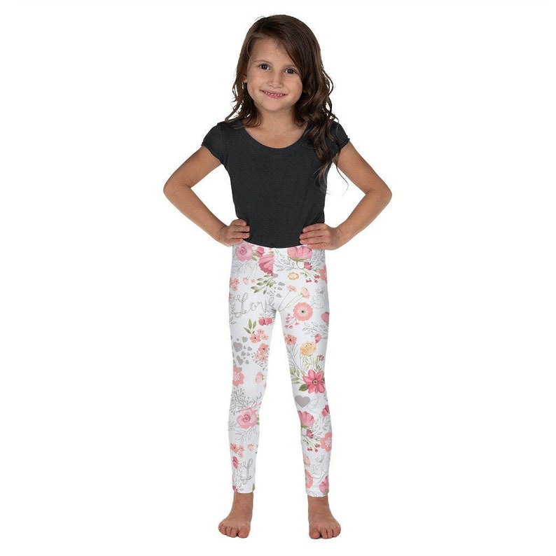 7 Leggings Tights Love Birds roses Rose Pink Floral Church School Clothes Christmas gift Birthday Present Kid/'s Toddler 2T