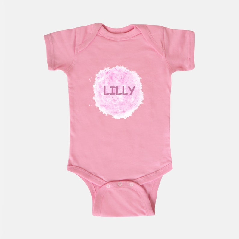 Baby Bodysuit one piece onesie Lilly Inspired Your Child/'s Name newborn infant New Mom Christening Shower Birthday Christmas mothers Bris
