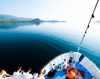 skiathos trip, Greece, greece holiday, boat trip, blue water, holiday pic, blue colours
