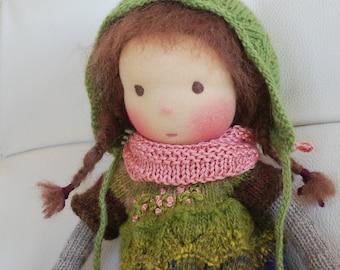 Doll, Waldorf Doll, Soft Doll, Knitted Doll, Handmade Doll, Natural Fibre Doll, Handmade Toys, Steiner Doll